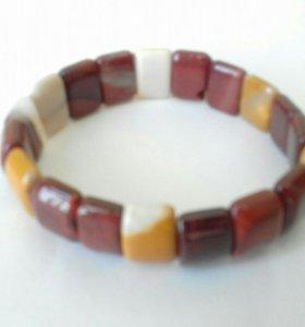 Браслет из натуральных камней (яшма)