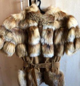 Полушубок лиса Fur natural