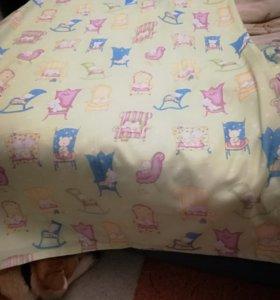 Комплект штор в детскую комнату шился на заказ