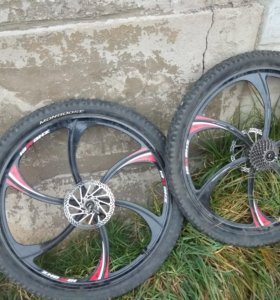 Литые диски на велосипед ( комплект )26 радиус
