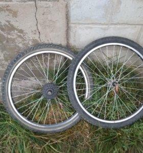 Колёса для велосипеда ( комплект ) 24 радиус