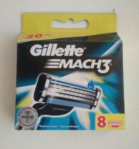 Кассеты Gillette mach 3