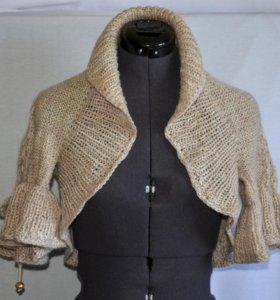 Болеро вязаное полушерстяное