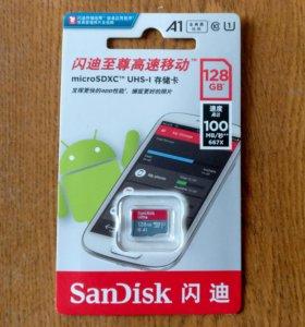 128Gb SanDisk Ultra microSDXC Class 10 100MB/s