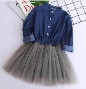платье для девочки стильное на новый год