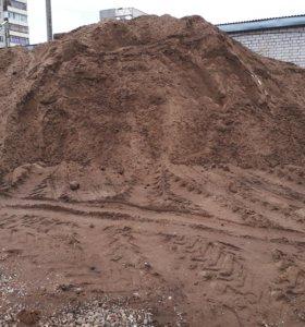 Песок.Гравий.Пгс.Щебень.Глина.Чернозём