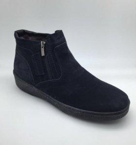 Зимние ботинки ( натуральная замша, натуральный ме
