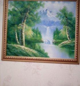 Картины маслом на холсте .