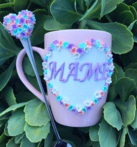 Набор из кружки и ложки на День матери «Маме»