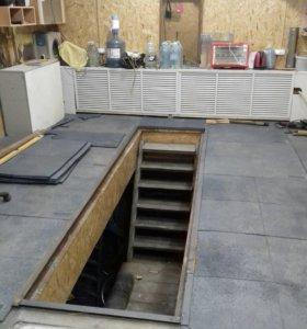 Резиновая плитка для гаража, сада и т.д.