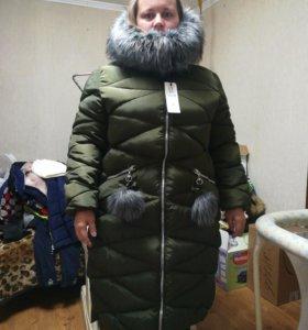 Зимнее пальто 56 размер