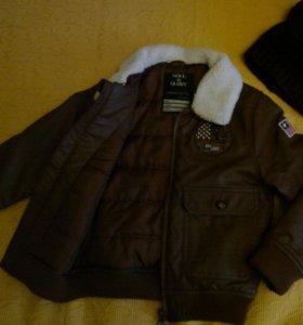 Куртка кожзам на синтепоне р-р 110-116