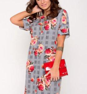 Новое платье Фреш (розы) - размер 46
