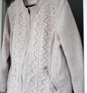 Льняной пиджак летний 60 р-р