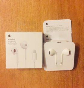Наушники Apple EarPods Lightning IPhone 7 8 ориги