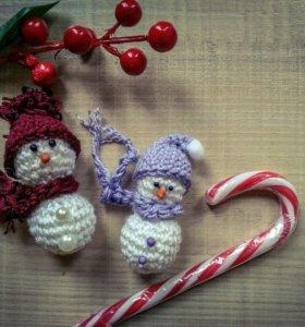 Мини снеговики, новогодние сувениры