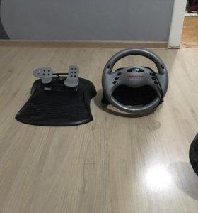Игровой руль Genius speed wheel vibration 3