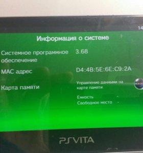 PS Vita 3.68/карта памяти/адаптер/игры