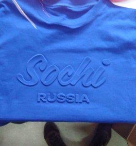 Футболки с оригинальным принтом Sochi Russia