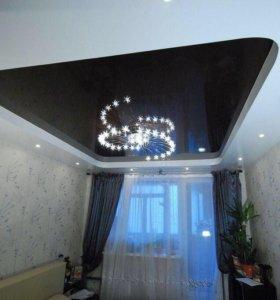 Натяжные потолки фактурные