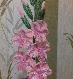 цветы бисером