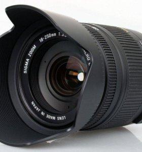 Объектив Sigma 18-250mm для nikon