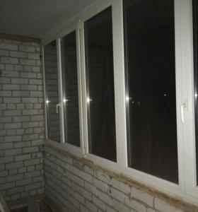 Пластиковые окна на лоджию.