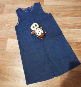 Джинсовое платье на девочку подростка