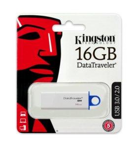 НОВЫЕ флешки Kingston 16Gb, запечатаны