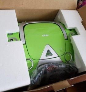 Магнитола BBK BX325U, Green Silver CD/MP3 новая