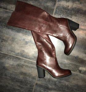 Сапоги кожаные, ESPRIT,новые, 37 размер
