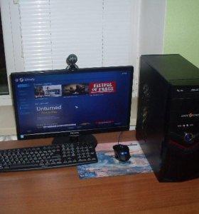 игравой компьютер с монитором
