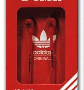 Наушники Adidas красные