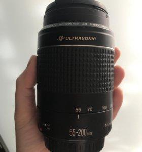 Объектив Canon 55-200mm 4.5-5.6