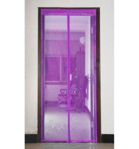 Дверная антимоскитная сетка на магнитах 90*210см