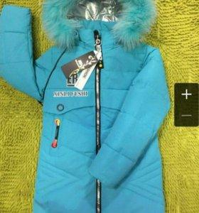 Удлиненная куртка на девочку