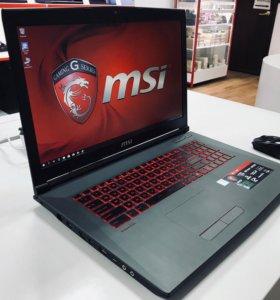 Игровой MSI i5-7300HQ\1000Gb+SSD\GTX 1050. Новый