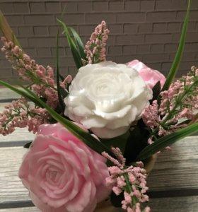 Букет цветов из мыла