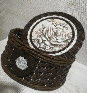 Шкатулка плетёная (пример)