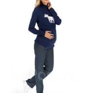 Брюки джинсовые утеплённые для беременных