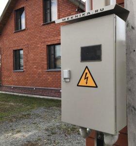 Шкаф с прибором учета на 15 кВт для трубостойки