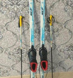 Комплект лыжи, ботинки для школьника