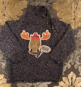 Зимний свитер для мальчика р(86)