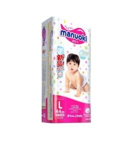 Трусики и Подгузы для детей Мануоки М58,Л44,ХЛ38шт