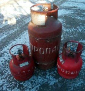 Газовые баллоны 5-27-50 литров