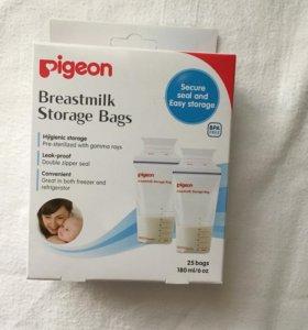 Пакеты для хранения молока pigeon
