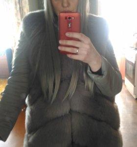 Искусственная куртка-жилет, 48-50, новая