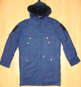 Куртка демисезонная офисная синяя вс