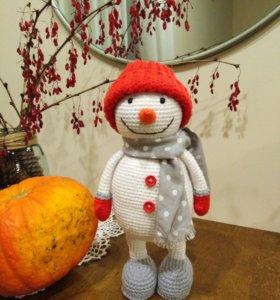 Снеговик для новогоднего декора