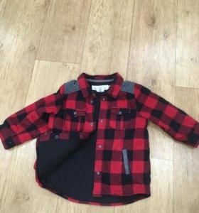 Рубашка детская на мальчика утепленная